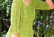Женский пуловер спицами схемы и описание